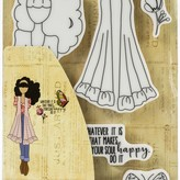 Prima Marketing Julie Nutting Mixed Media Cling Rubber Stamp (fiona)