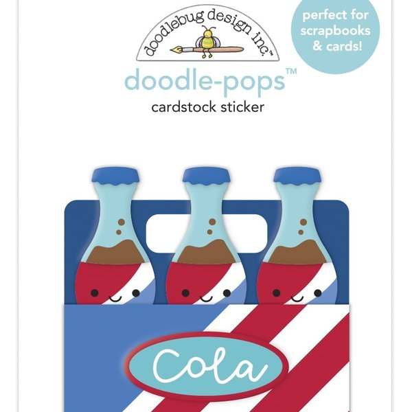 Doodlebug Doodle-Pops 3D Stickers - Bar-B-Cute (soda-licious)