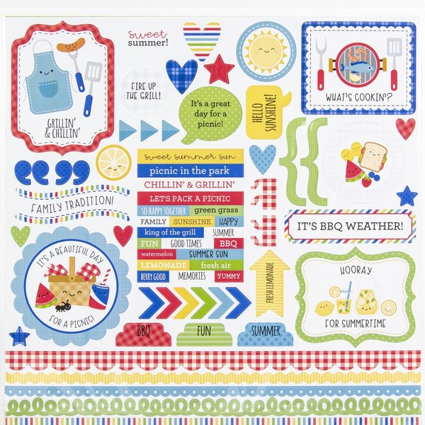 Doodlebug 12x12 Double-Sided Paper Pack (bar-b-cute)