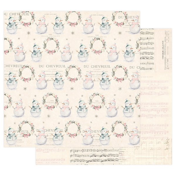 Prima Marketing Sugar Cookie Double-Sided Cardstock (let's build a snowman)