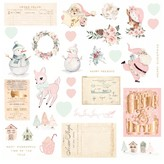 Prima Marketing Cardstock Ephemera (sugar cookie 2) 32/Pkg-Shapes, Tags, Words, Foiled Accents