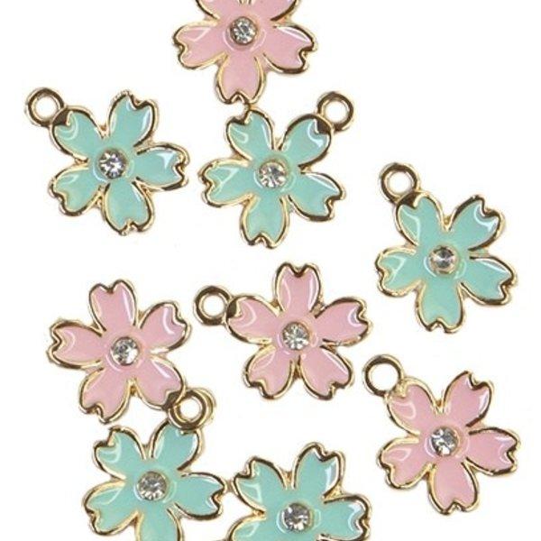 Prima Marketing Metal Charms - Flower (sugar cookie)