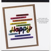 Photoplay Paper Say It With Stamps Die Set (sentiment strips)