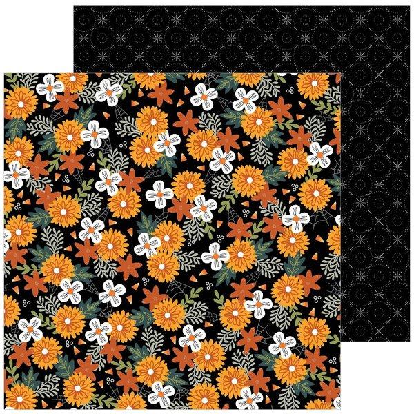 Pebbles Spoooky - 12x12 Double-Sided Cardstock (spoooky blooms)