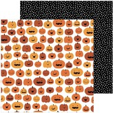 Pebbles Spoooky - 12x12 Double-Sided Cardstock (pumpkin carving)