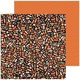 Pebbles Spoooky - 12x12 Double-Sided Cardstock (treats please)