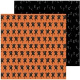 Pebbles Spoooky - 12x12 Double-Sided Cardstock (monster mash)
