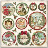 Stamperia Intl Classic Christmas - 12x12 Double-Sided Cardstock (rounds)