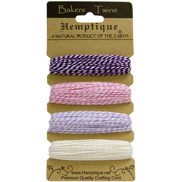 Hemptique Cotton Baker's Twine (raspberry sorbet)