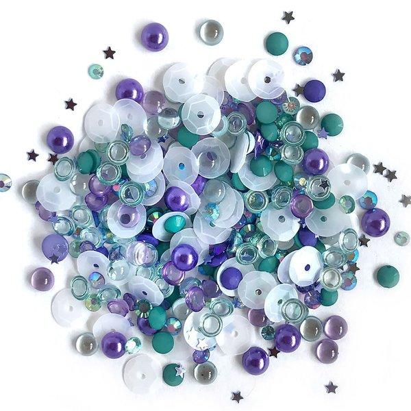 Buttons Galore Sparkletz Embellishment Pack (sailors sky)
