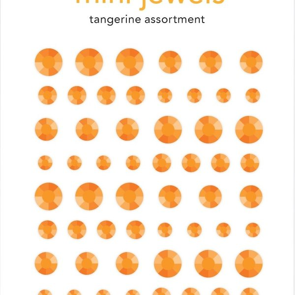 Doodlebug Adhesive Mini Jewels (tangerine)