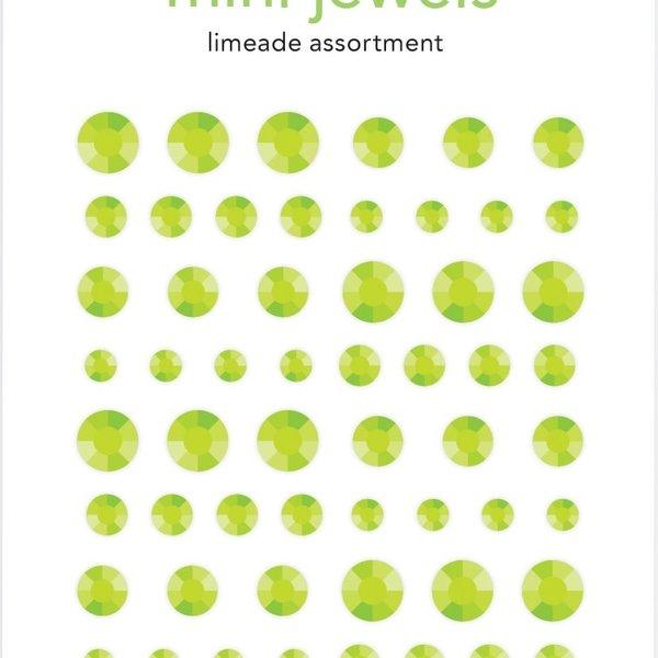 Doodlebug Adhesive Mini Jewels (limeade)