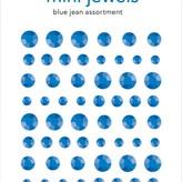 Doodlebug Adhesive Mini Jewels (blue jean)