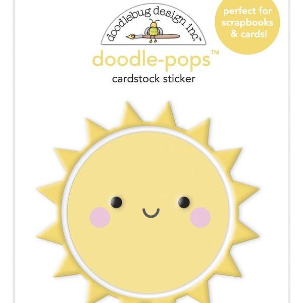 Doodlebug Doodle-Pops 3D Stickers - Bar-B-Cute (fun in the sun)