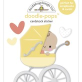 Doodlebug Doodle-Pops 3D Stickers - Bundle of Joy (out for a stroll)