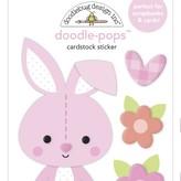 Doodlebug Doodle-Pops 3D Stickers - Bundle of Joy (snuggle bunny)