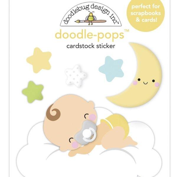 Doodlebug Doodle-Pops 3D Stickers - Bundle of Joy (cloud nine)