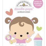 Doodlebug Doodle-Pops 3D Stickers - Bundle of Joy (sweet girl)