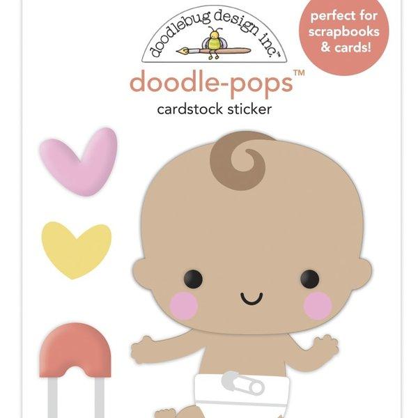 Doodlebug Doodle-Pops 3D Stickers - Bundle of Joy (baby steps)