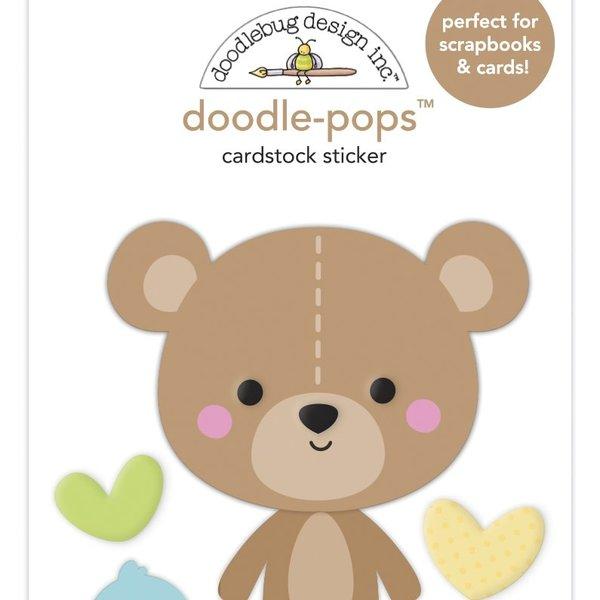 Doodlebug Doodle-Pops 3D Stickers - Special Delivery (bear hug)