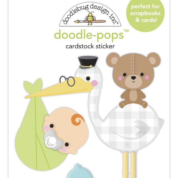 Doodlebug Doodle-Pops 3D Stickers - Special Delivery  (special delivery)