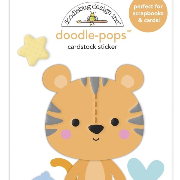 Doodlebug Doodle-Pops 3D Stickers - Special Delivery  (cuddly cub)