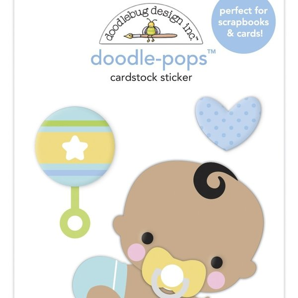Doodlebug Doodle-Pops 3D Stickers - Special Delivery (on the move)