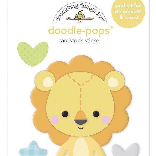 Doodlebug Doodle-Pops 3D Stickers - Special Delivery (lovable lion)