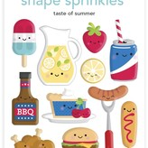 Doodlebug Sprinkles Adhesive Enamel Shapes - Bar-B-Cute (taste of summer)