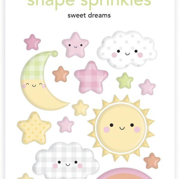 Doodlebug Sprinkles Adhesive Enamel Shapes - Special Delivery (sweet dreams)