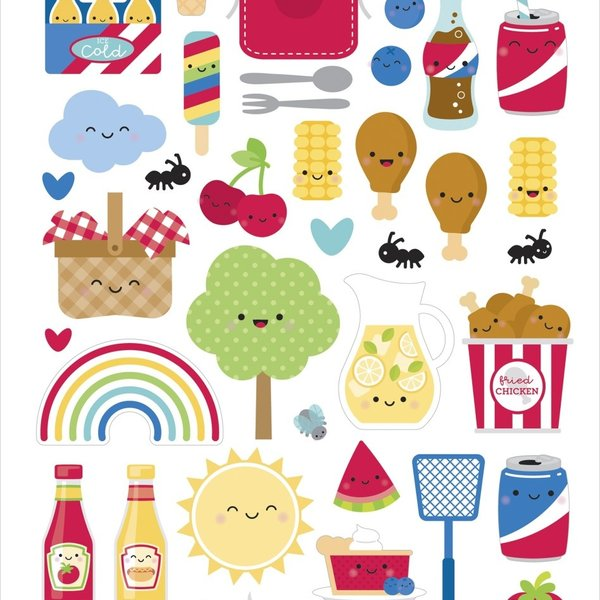 Doodlebug Cardstock Stickers 6X13 (bar-b-cute)