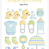 Doodlebug Sprinkles Adhesive Enamel Shapes - Special Delivery (play time)