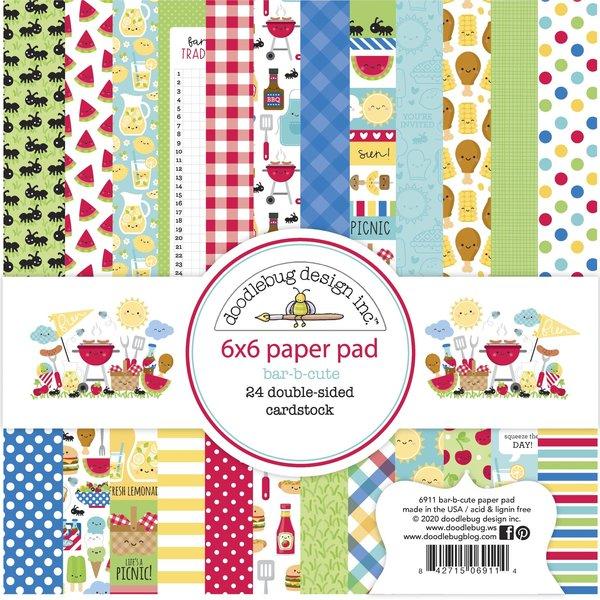 Doodlebug Paper Pad 6X6 (bar-b-cute)