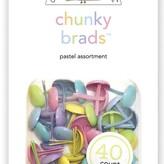 Doodlebug Chunky Brads (pastel assortment)