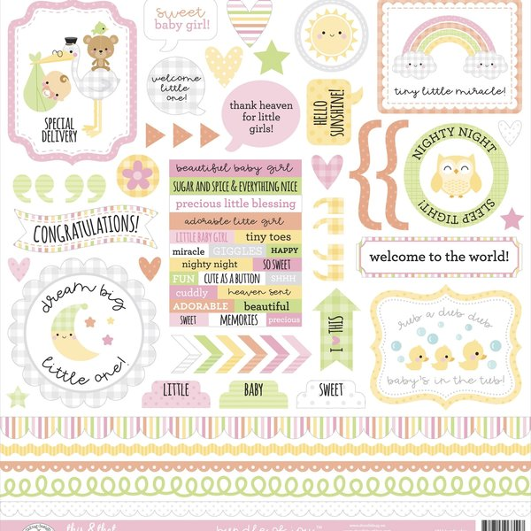 Doodlebug This & That Cardstock Stickers 12X12 (bundle of joy)