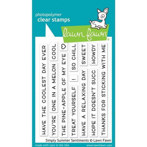 Lawn Fawn Clear Stamps (simply summer sentiments)