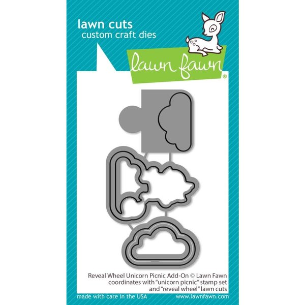 Lawn Fawn Dies (reveal wheel unicorn picnic add-on)