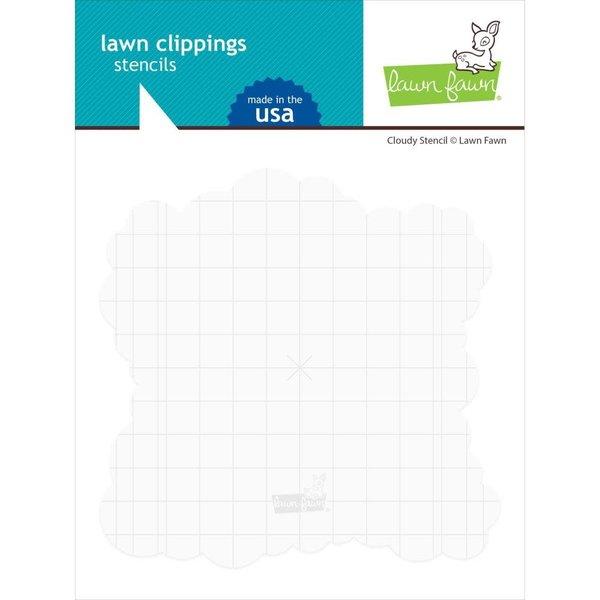 Lawn Fawn Lawn Clippings Stencil (cloudy)