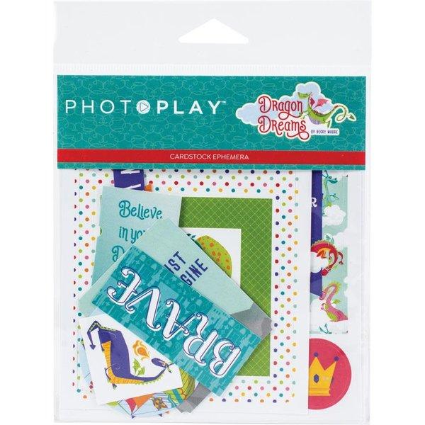 Photoplay Paper Ephemera Cardstock Die-Cuts (dragon dreams)