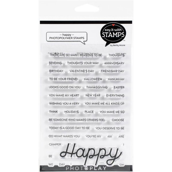 Photoplay Paper Say It With Stamps Photopolymer Stamp (happy)