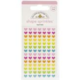 Doodlebug Sprinkles Adhesive Enamel Shapes - Hey Cupcake (heart-fetti)