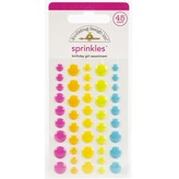 Doodlebug Sprinkles Adhesive Enamel Shapes - Hey Cupcake (birthday girl assortment)