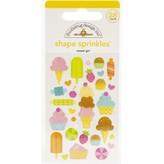 Doodlebug Sprinkles Adhesive Enamel Shapes - Hey Cupcake (sweet girl)
