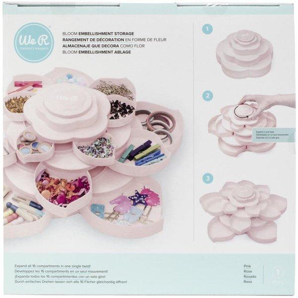 We R Memory Keepers We R Bloom Embellishment Storage - Pink