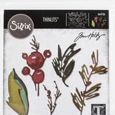 Tim Holtz - Sizzix Thinlits Dies By Tim Holtz 9/Pkg-Holiday Brushstroke
