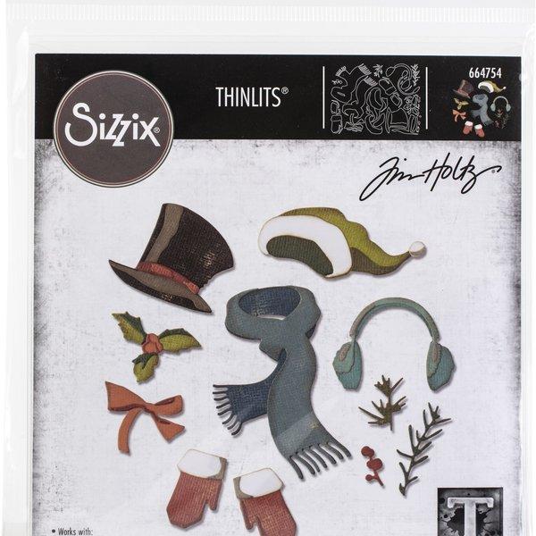 Tim Holtz - Sizzix Thinlits Dies By Tim Holtz 11/Pkg-Winter Wardrobe