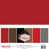 Echo Park Paper Double-Sided Solid Cardstock 12X12  6/Pkg-Let's Lumberjack, 6 Colors