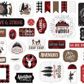 Echo Park Paper Cardstock Ephemera 33/Pkg-Icons, Let's Lumberjack