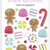 Doodlebug Sprinkles Adhesive Enamel Shapes - Night Before Christmas (visions of sugarplums)