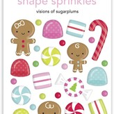 Doodlebug Sprinkles Adhesive Enamel Shapes-Visions Of Sugarplums